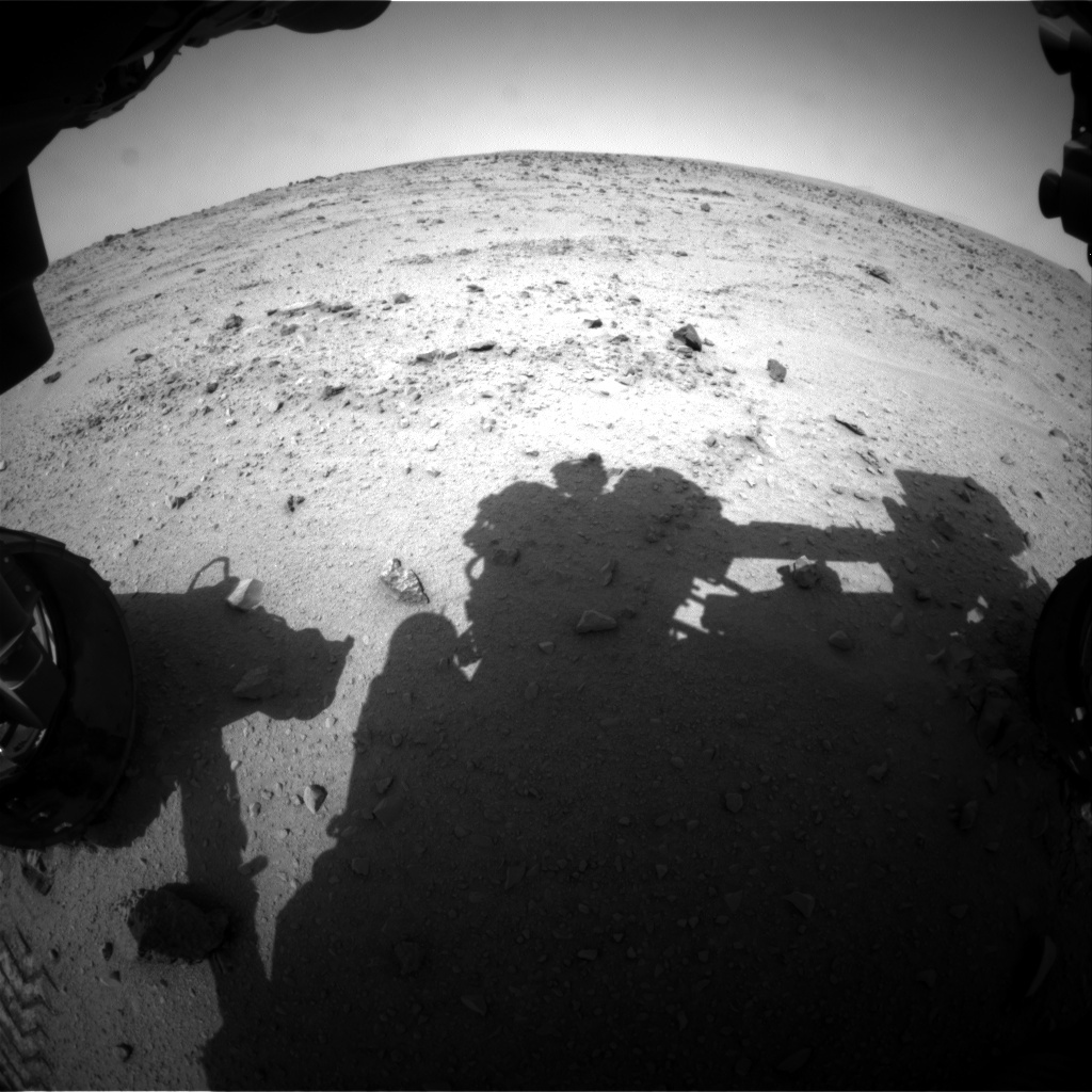 NASA's Mars rover Curiosity acquired this image using its Front Hazard Avoidance Cameras (Front Hazcams) on Sol 330