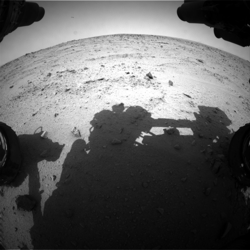 Nasa's Mars rover Curiosity acquired this image using its Front Hazard Avoidance Camera (Front Hazcam) on Sol 330, at drive 270, site number 7