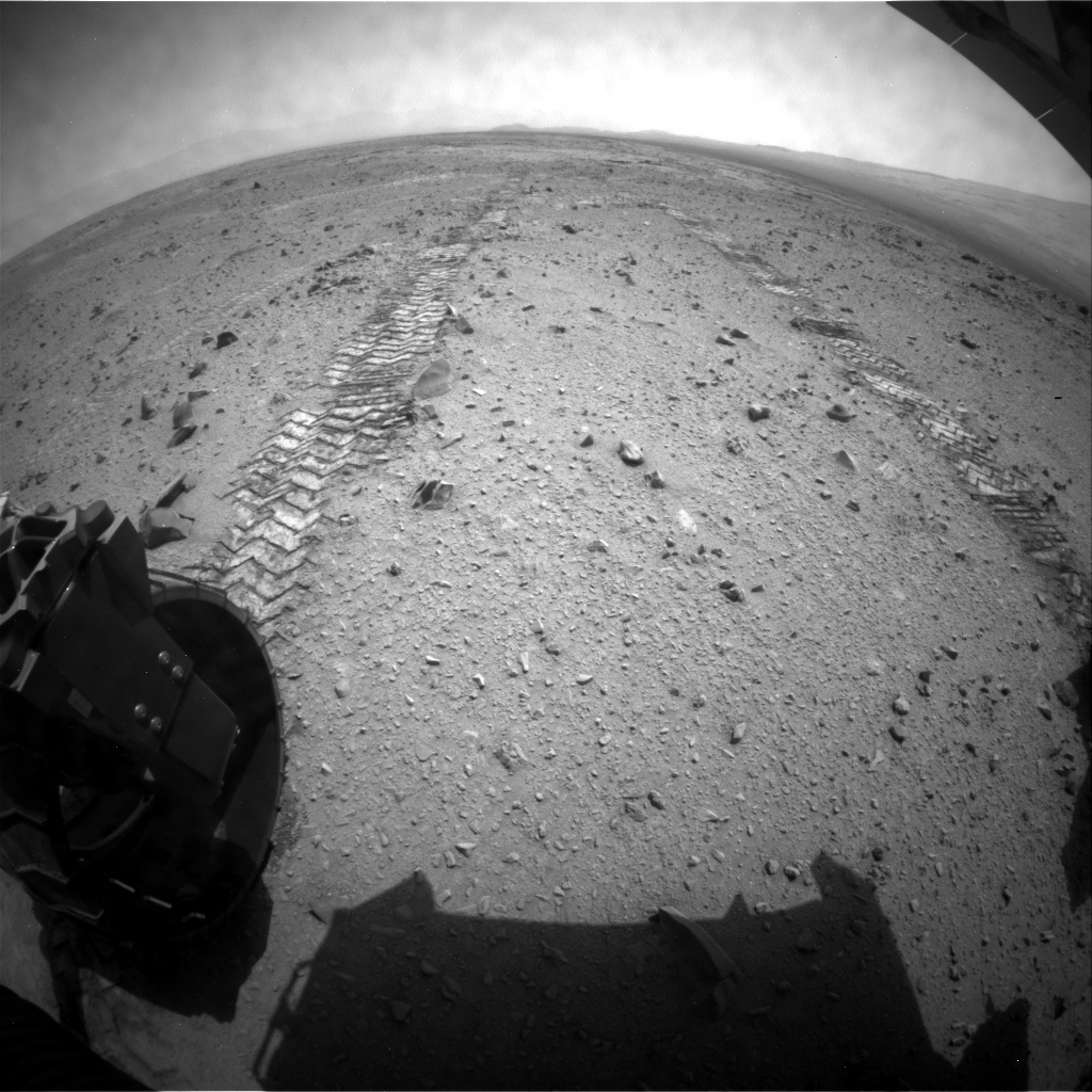 NASA's Mars rover Curiosity acquired this image using its Rear Hazard Avoidance Cameras (Rear Hazcams) on Sol 330