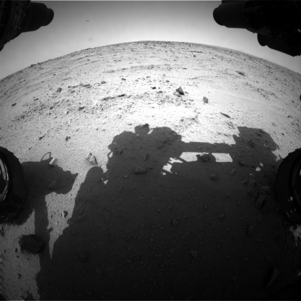 Nasa's Mars rover Curiosity acquired this image using its Front Hazard Avoidance Camera (Front Hazcam) on Sol 331, at drive 270, site number 7