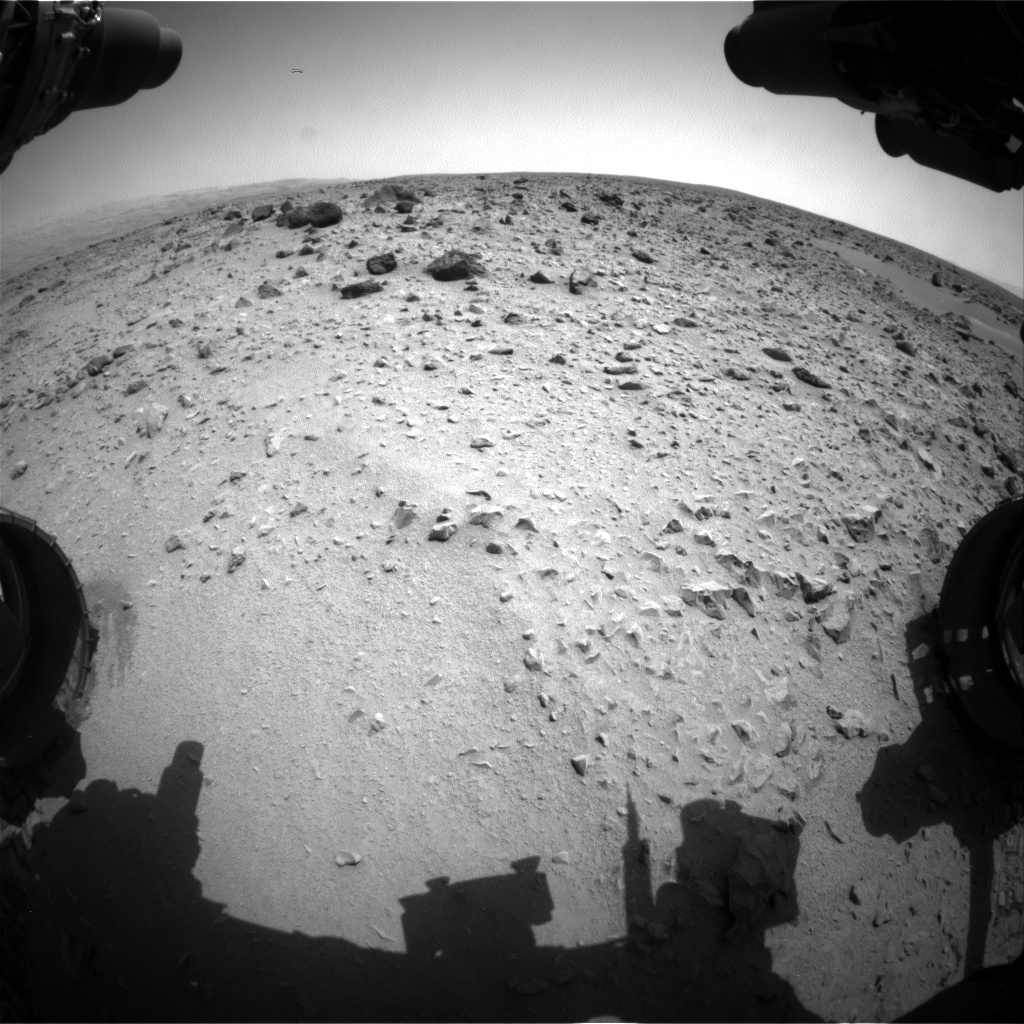 Nasa's Mars rover Curiosity acquired this image using its Front Hazard Avoidance Camera (Front Hazcam) on Sol 331, at drive 368, site number 7