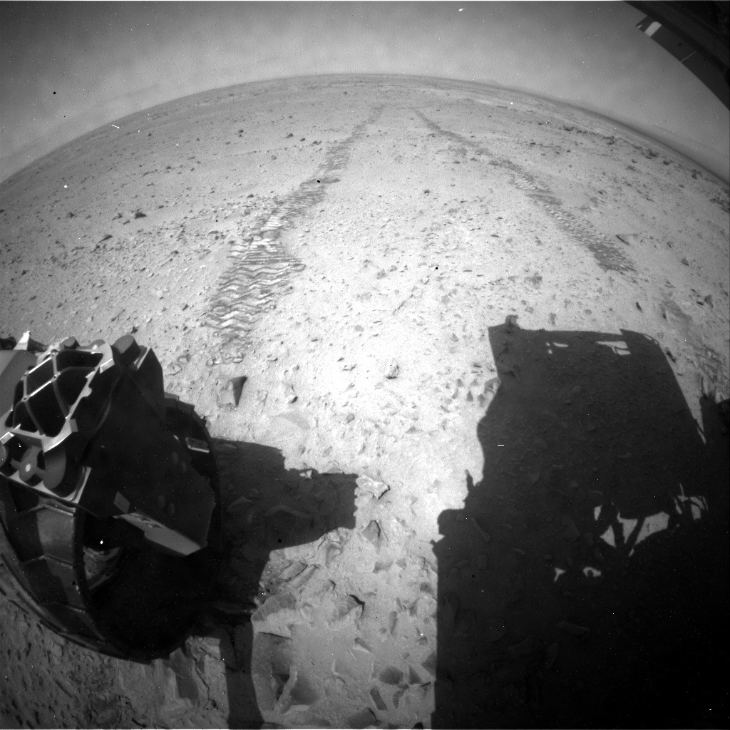 NASA's Mars rover Curiosity acquired this image using its Rear Hazard Avoidance Cameras (Rear Hazcams) on Sol 331