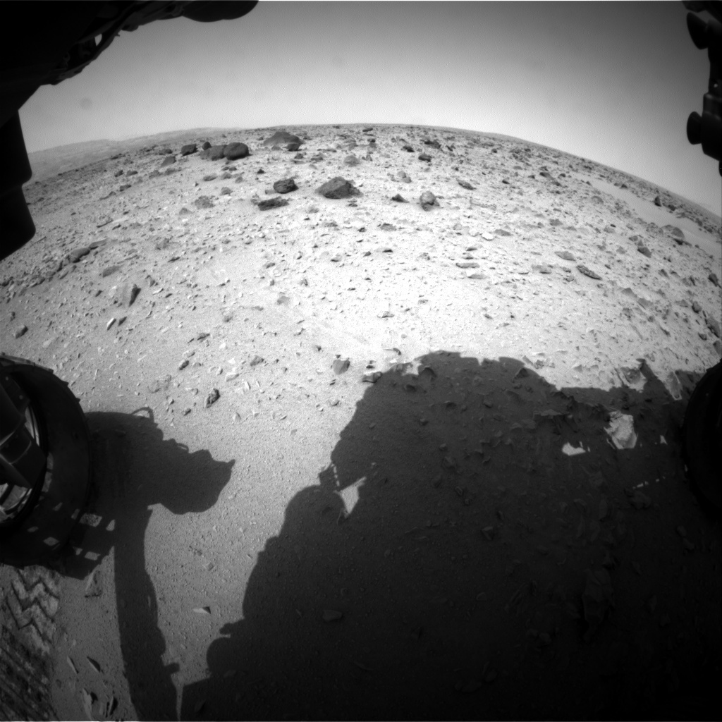 NASA's Mars rover Curiosity acquired this image using its Front Hazard Avoidance Cameras (Front Hazcams) on Sol 332