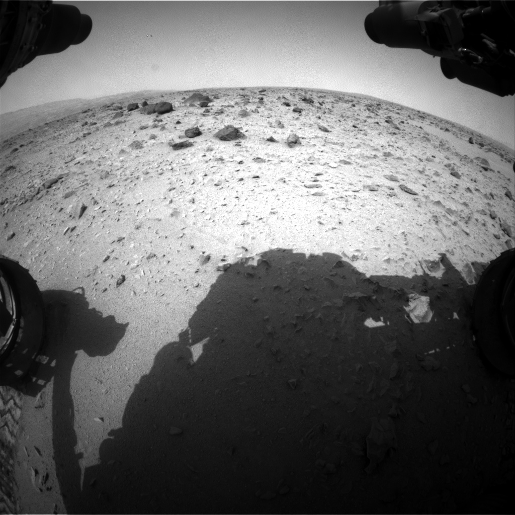 Nasa's Mars rover Curiosity acquired this image using its Front Hazard Avoidance Camera (Front Hazcam) on Sol 332, at drive 368, site number 7