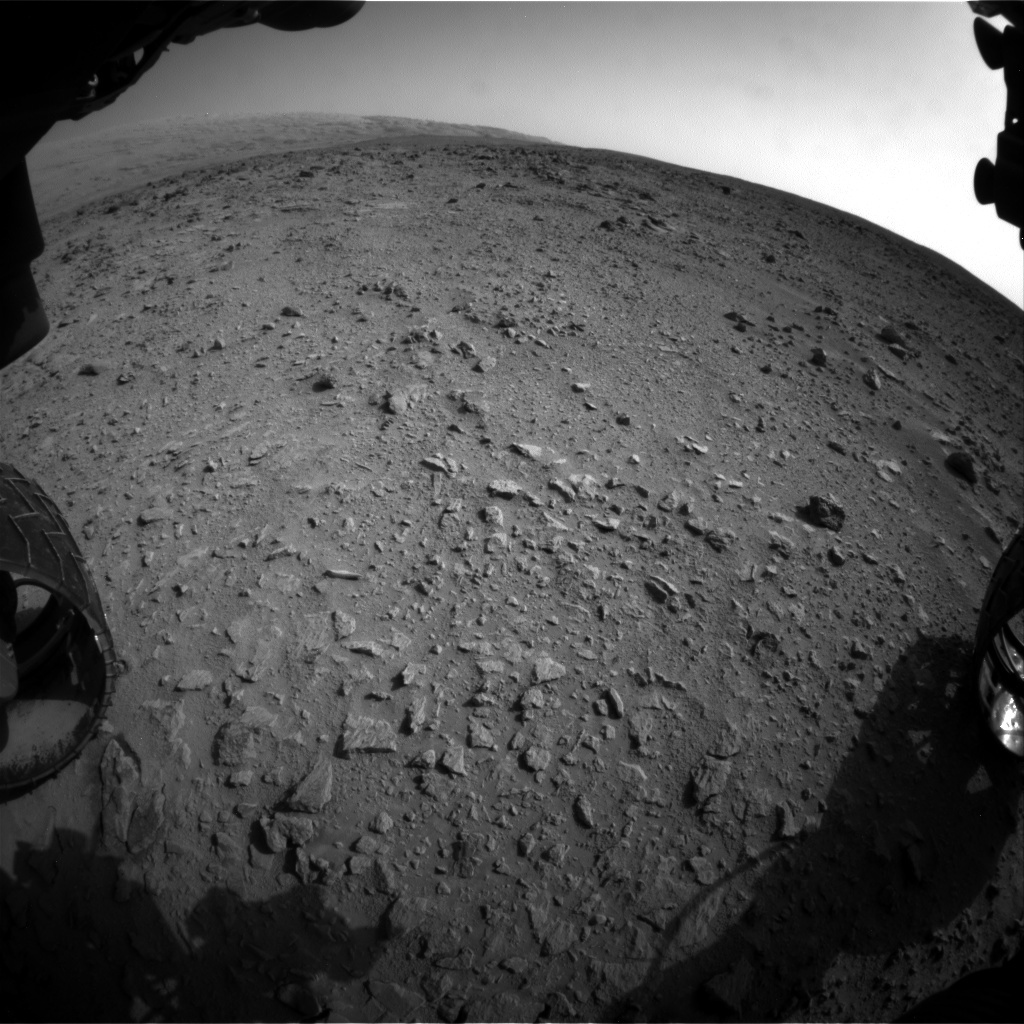 NASA's Mars rover Curiosity acquired this image using its Front Hazard Avoidance Cameras (Front Hazcams) on Sol 333