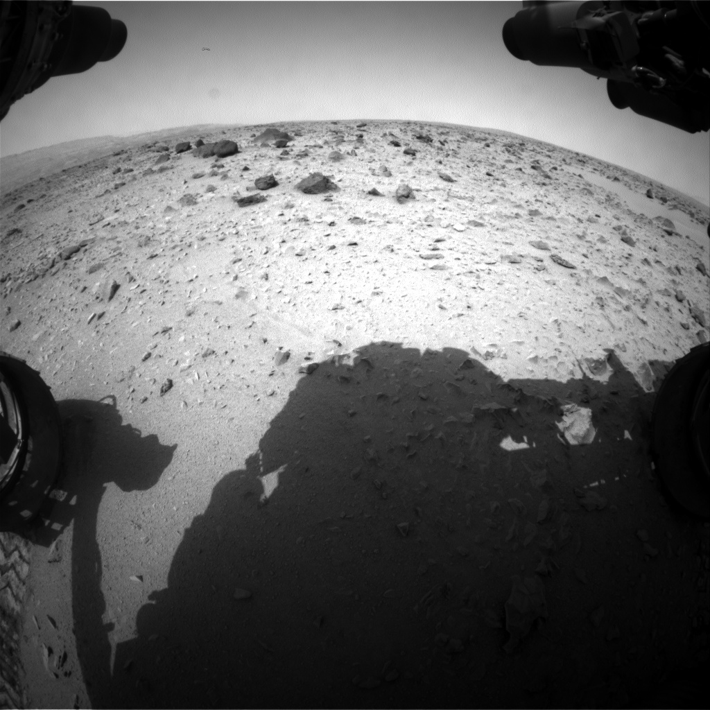 Nasa's Mars rover Curiosity acquired this image using its Front Hazard Avoidance Camera (Front Hazcam) on Sol 333, at drive 368, site number 7