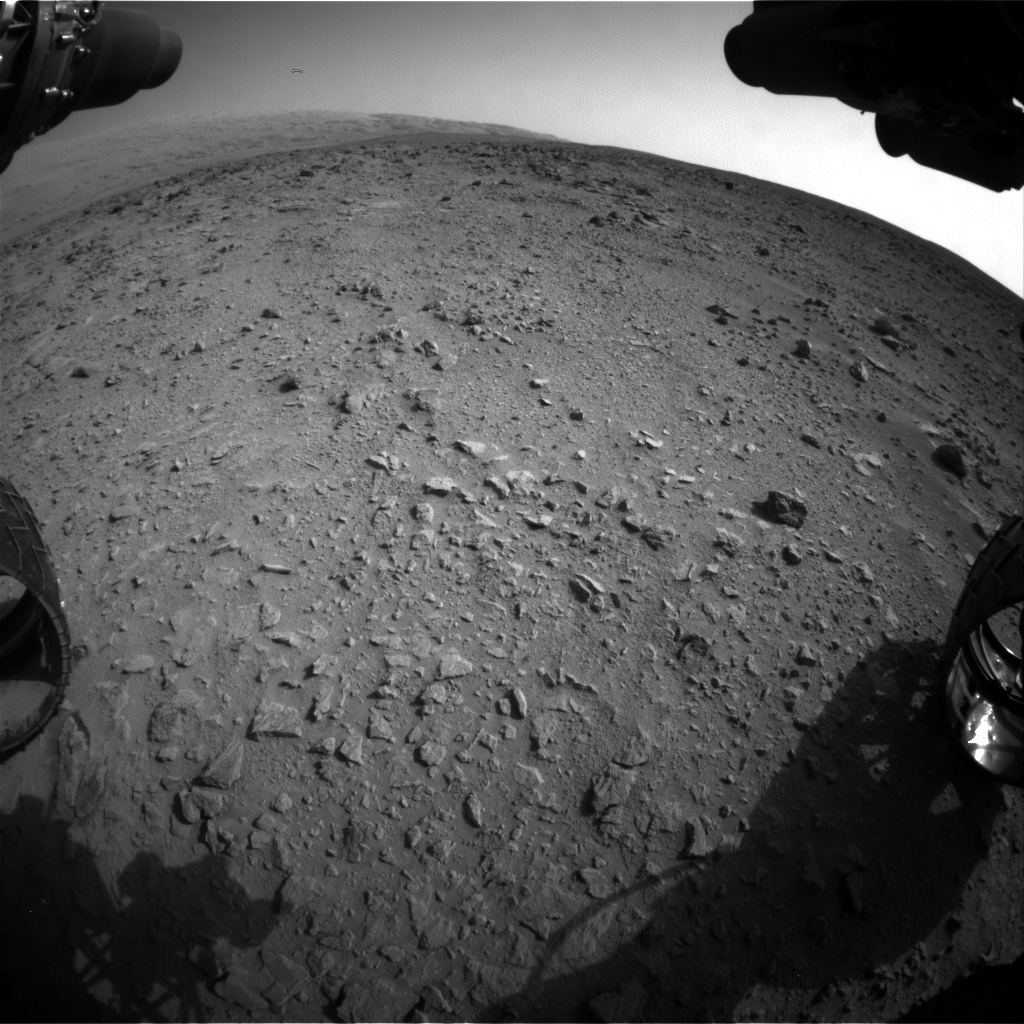 Nasa's Mars rover Curiosity acquired this image using its Front Hazard Avoidance Camera (Front Hazcam) on Sol 333, at drive 0, site number 8