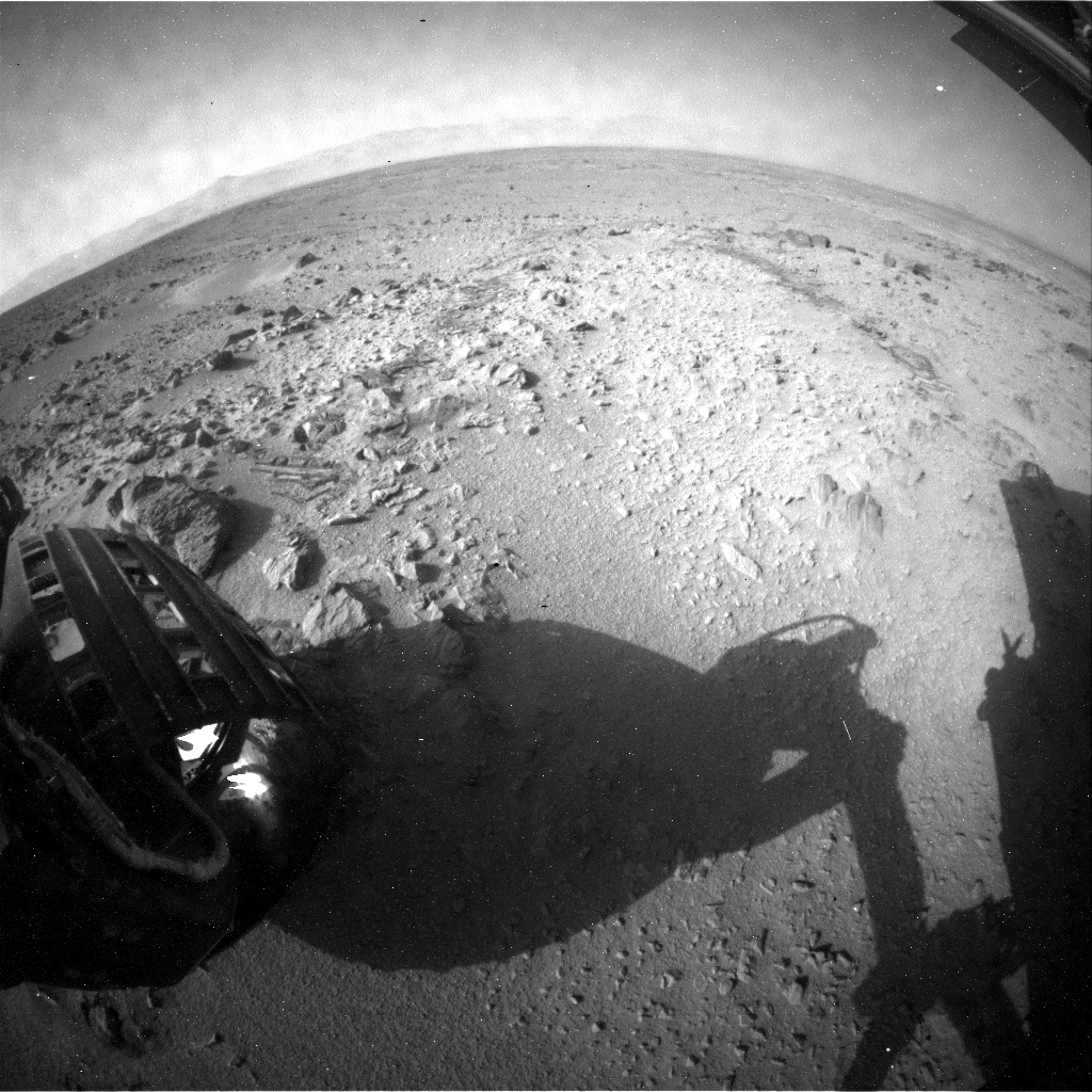 NASA's Mars rover Curiosity acquired this image using its Rear Hazard Avoidance Cameras (Rear Hazcams) on Sol 333