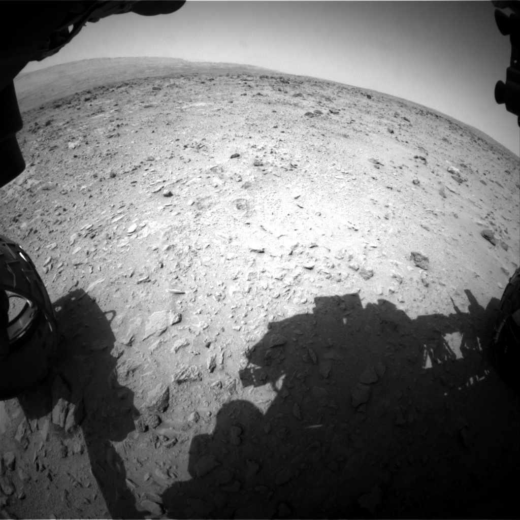 NASA's Mars rover Curiosity acquired this image using its Front Hazard Avoidance Cameras (Front Hazcams) on Sol 334