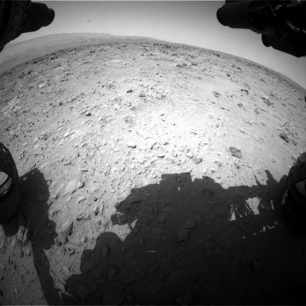 Nasa's Mars rover Curiosity acquired this image using its Front Hazard Avoidance Camera (Front Hazcam) on Sol 334, at drive 0, site number 8