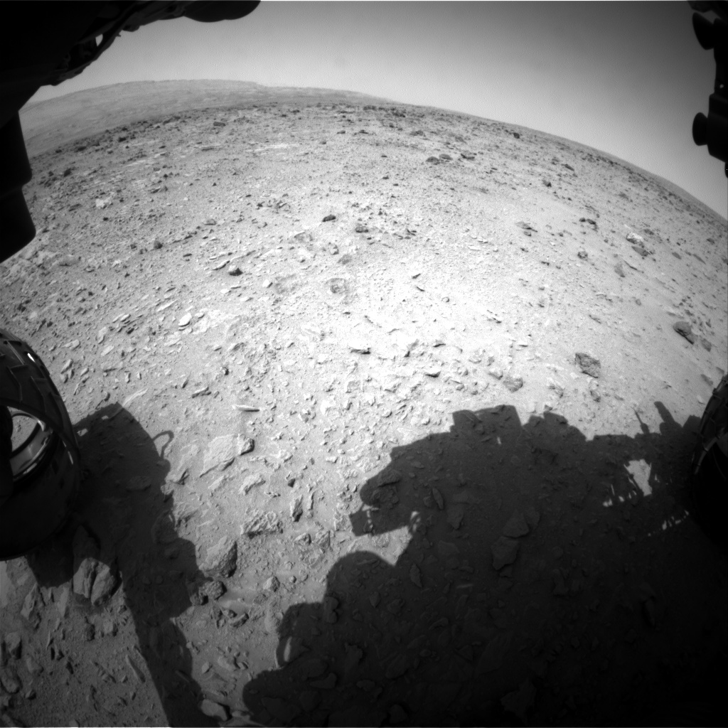 Nasa's Mars rover Curiosity acquired this image using its Front Hazard Avoidance Camera (Front Hazcam) on Sol 335, at drive 0, site number 8