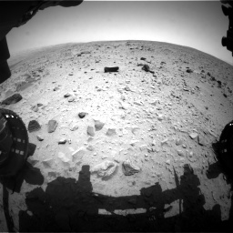 Nasa's Mars rover Curiosity acquired this image using its Front Hazard Avoidance Camera (Front Hazcam) on Sol 335, at drive 132, site number 8
