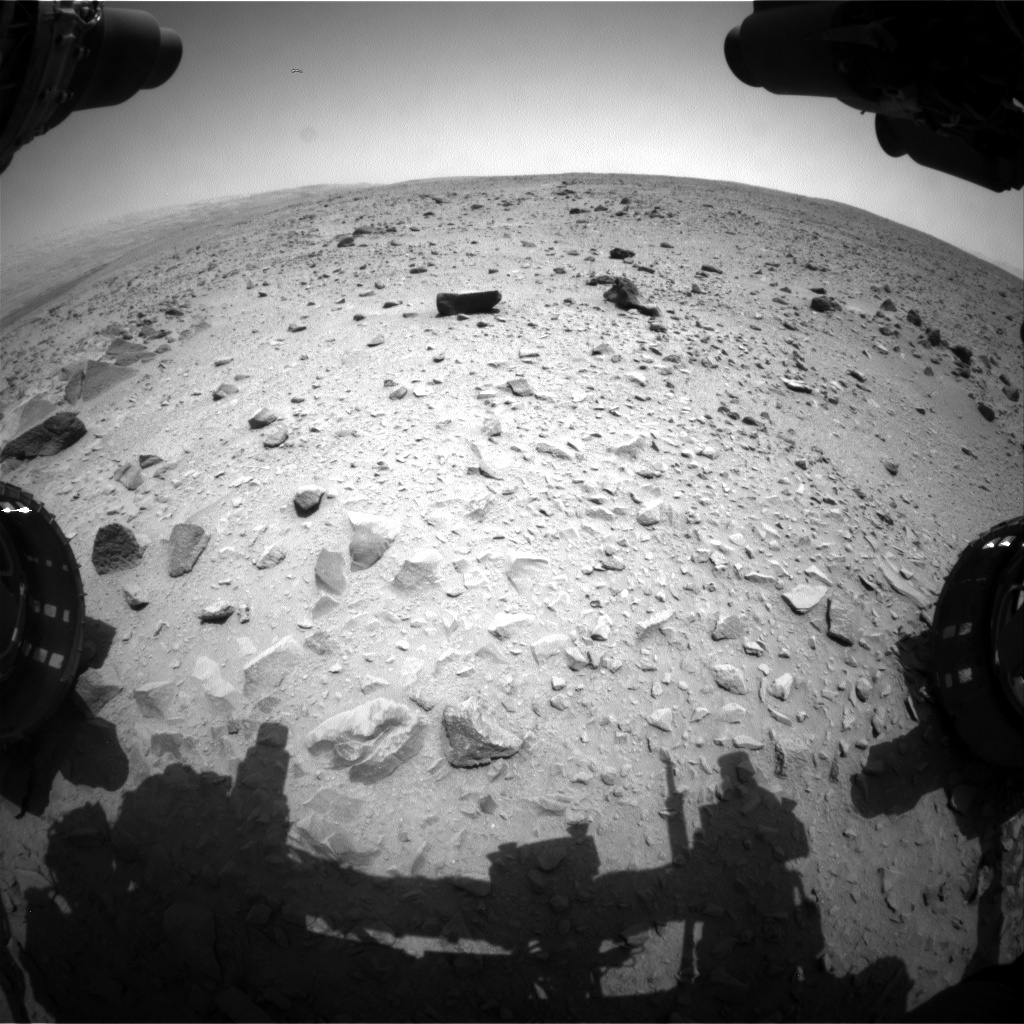 NASA's Mars rover Curiosity acquired this image using its Front Hazard Avoidance Cameras (Front Hazcams) on Sol 335