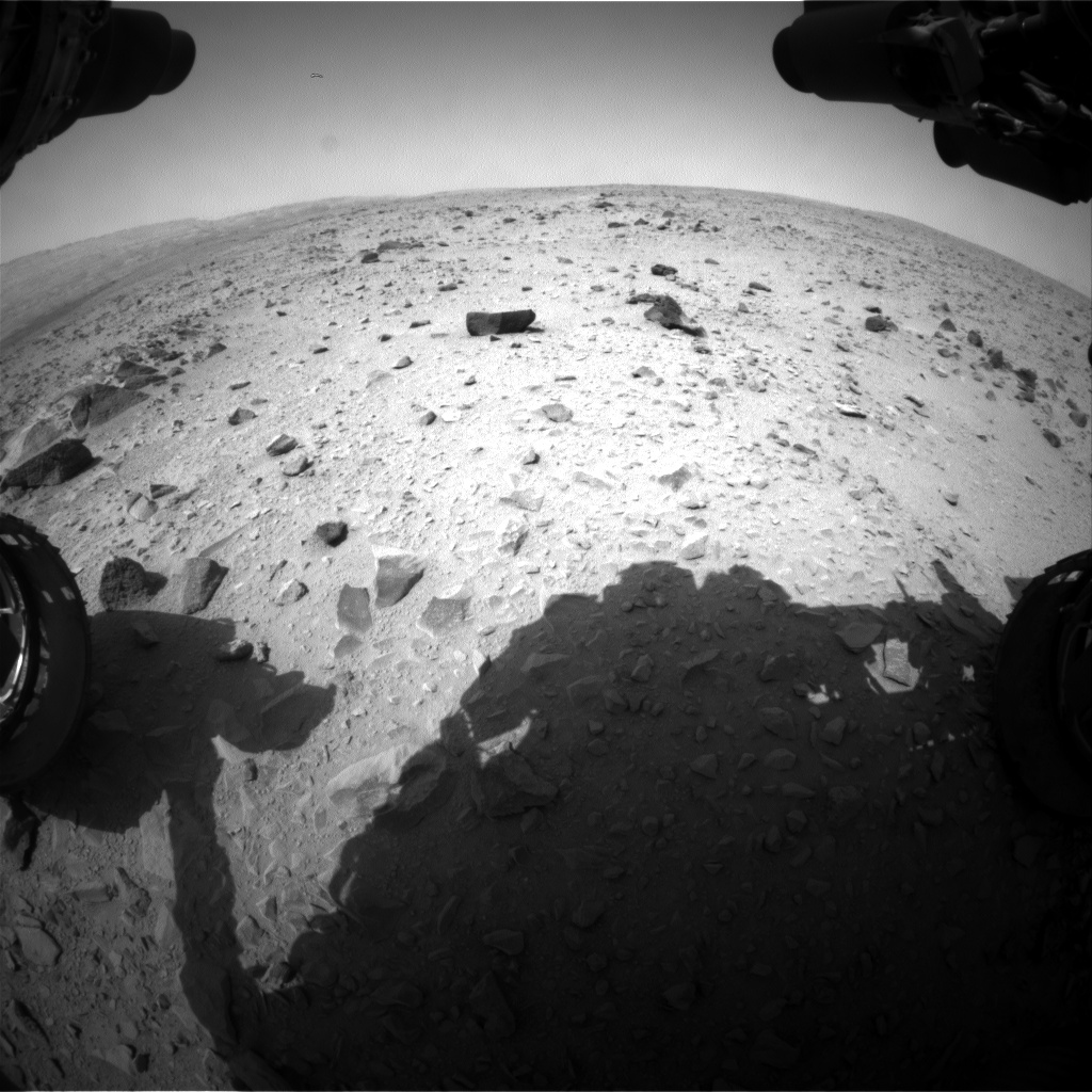 Nasa's Mars rover Curiosity acquired this image using its Front Hazard Avoidance Camera (Front Hazcam) on Sol 336, at drive 132, site number 8