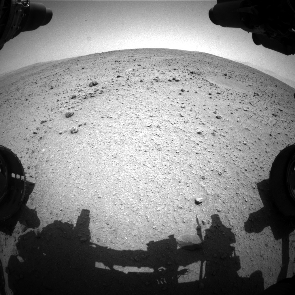 NASA's Mars rover Curiosity acquired this image using its Front Hazard Avoidance Cameras (Front Hazcams) on Sol 336