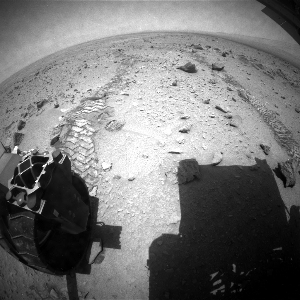 NASA's Mars rover Curiosity acquired this image using its Rear Hazard Avoidance Cameras (Rear Hazcams) on Sol 336