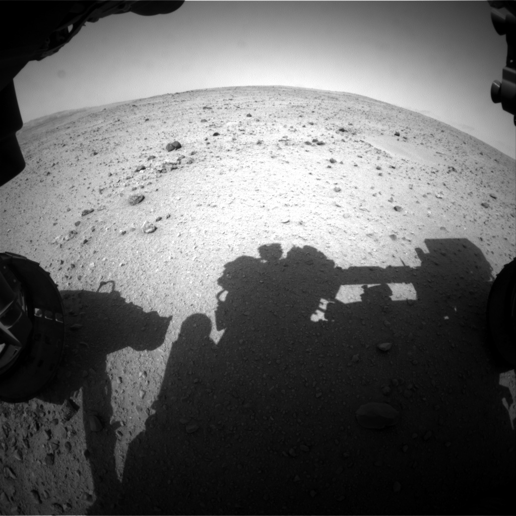 NASA's Mars rover Curiosity acquired this image using its Front Hazard Avoidance Cameras (Front Hazcams) on Sol 337