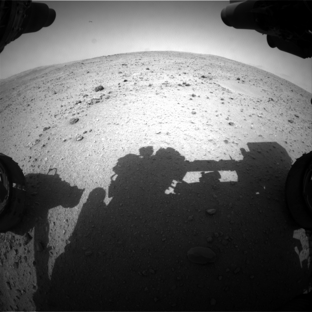 Nasa's Mars rover Curiosity acquired this image using its Front Hazard Avoidance Camera (Front Hazcam) on Sol 337, at drive 234, site number 8