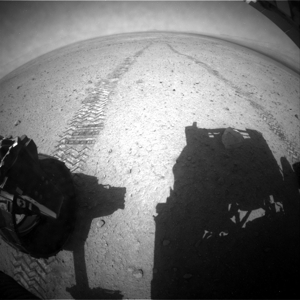 NASA's Mars rover Curiosity acquired this image using its Rear Hazard Avoidance Cameras (Rear Hazcams) on Sol 337