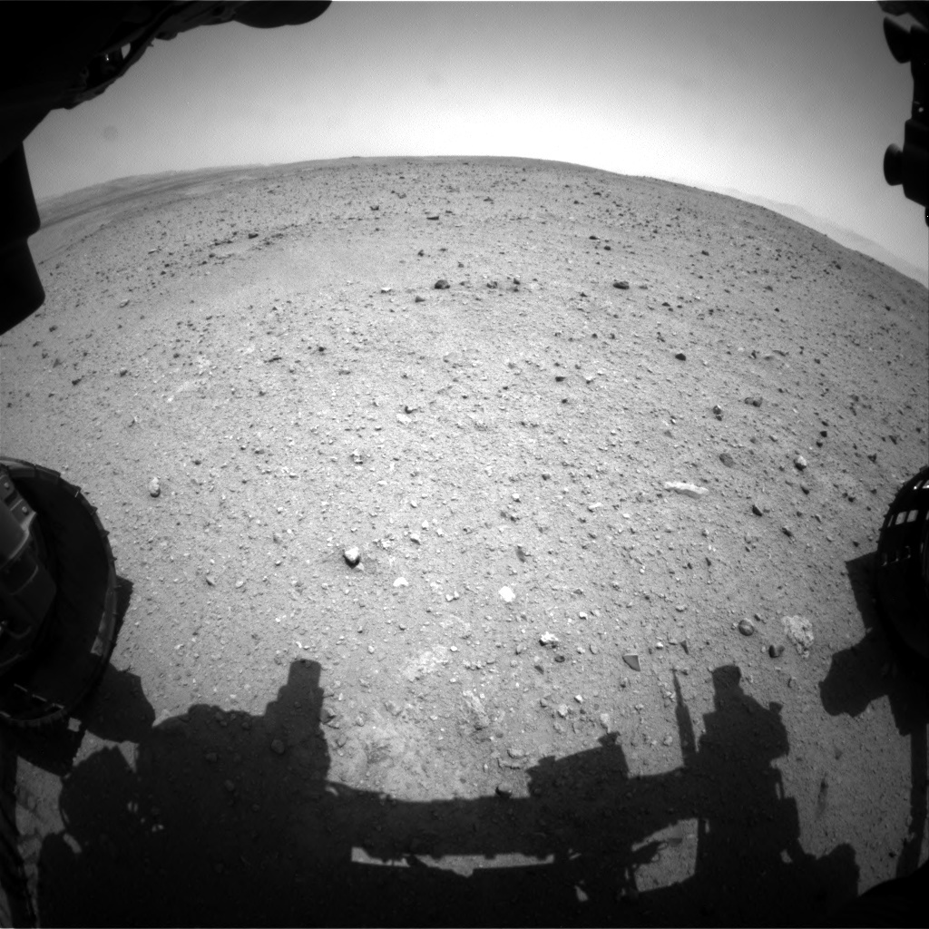 NASA's Mars rover Curiosity acquired this image using its Front Hazard Avoidance Cameras (Front Hazcams) on Sol 338