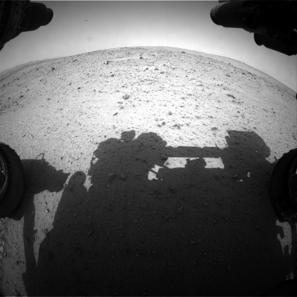 Nasa's Mars rover Curiosity acquired this image using its Front Hazard Avoidance Camera (Front Hazcam) on Sol 338, at drive 494, site number 8