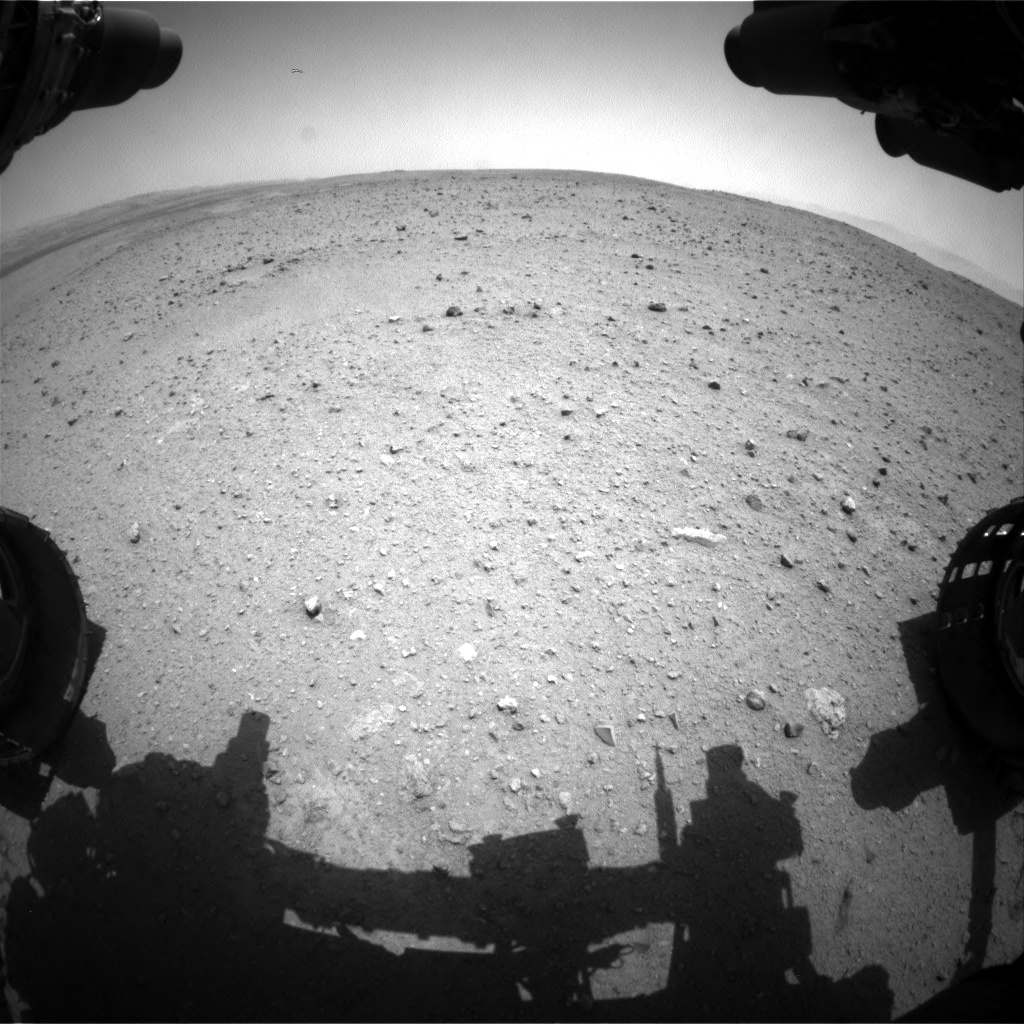 Nasa's Mars rover Curiosity acquired this image using its Front Hazard Avoidance Camera (Front Hazcam) on Sol 338, at drive 610, site number 8