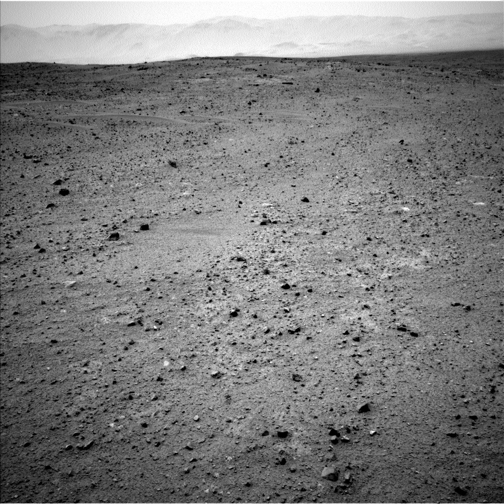 Nasa's Mars rover Curiosity acquired this image using its Left Navigation Camera on Sol 338, at drive 610, site number 8