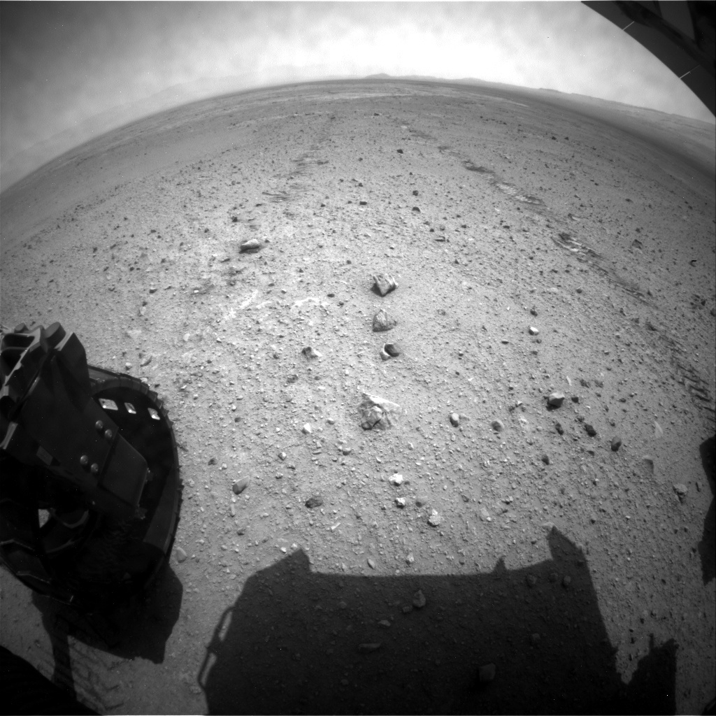 NASA's Mars rover Curiosity acquired this image using its Rear Hazard Avoidance Cameras (Rear Hazcams) on Sol 339
