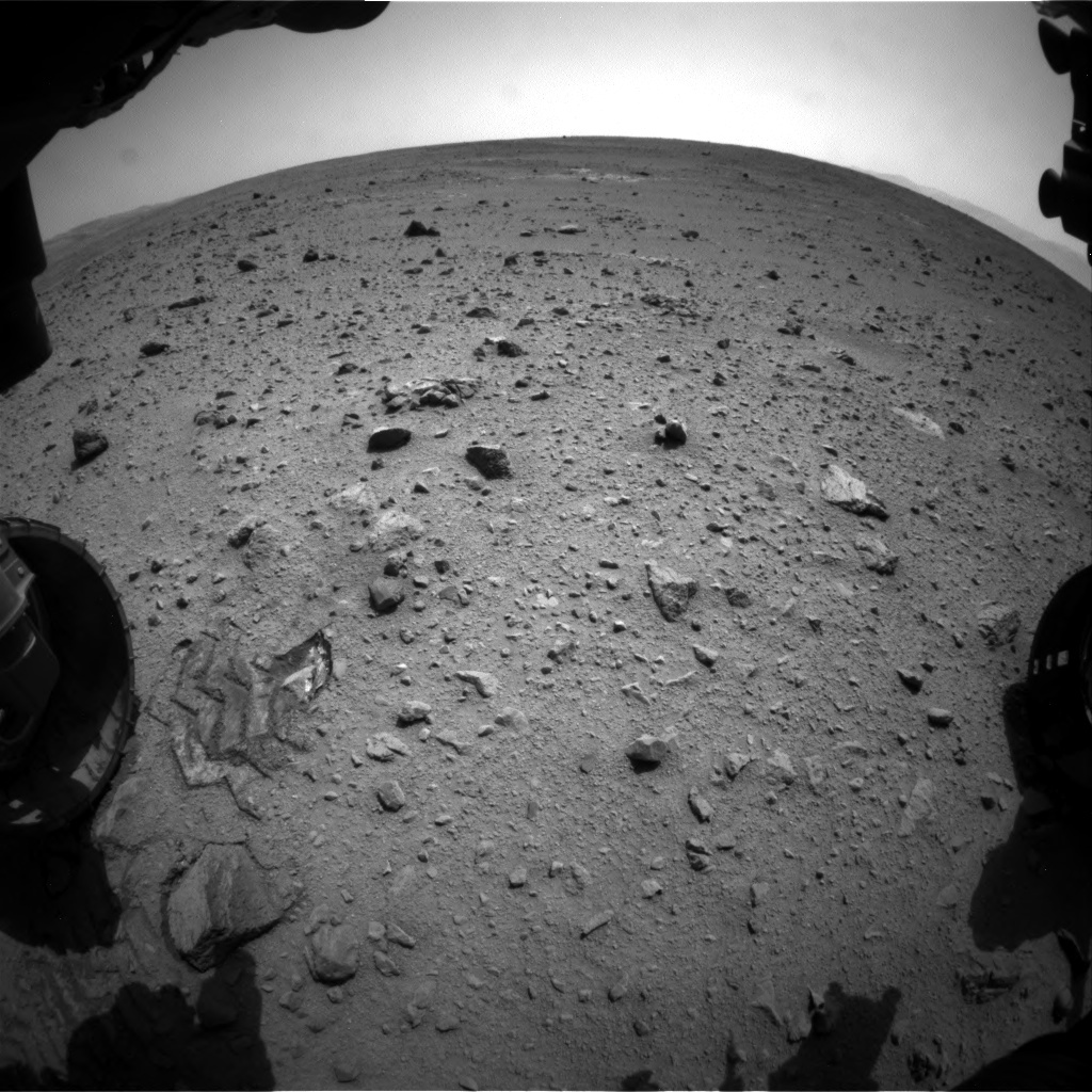NASA's Mars rover Curiosity acquired this image using its Front Hazard Avoidance Cameras (Front Hazcams) on Sol 340