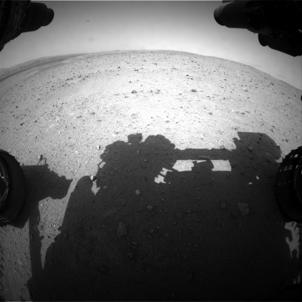 Nasa's Mars rover Curiosity acquired this image using its Front Hazard Avoidance Camera (Front Hazcam) on Sol 340, at drive 610, site number 8