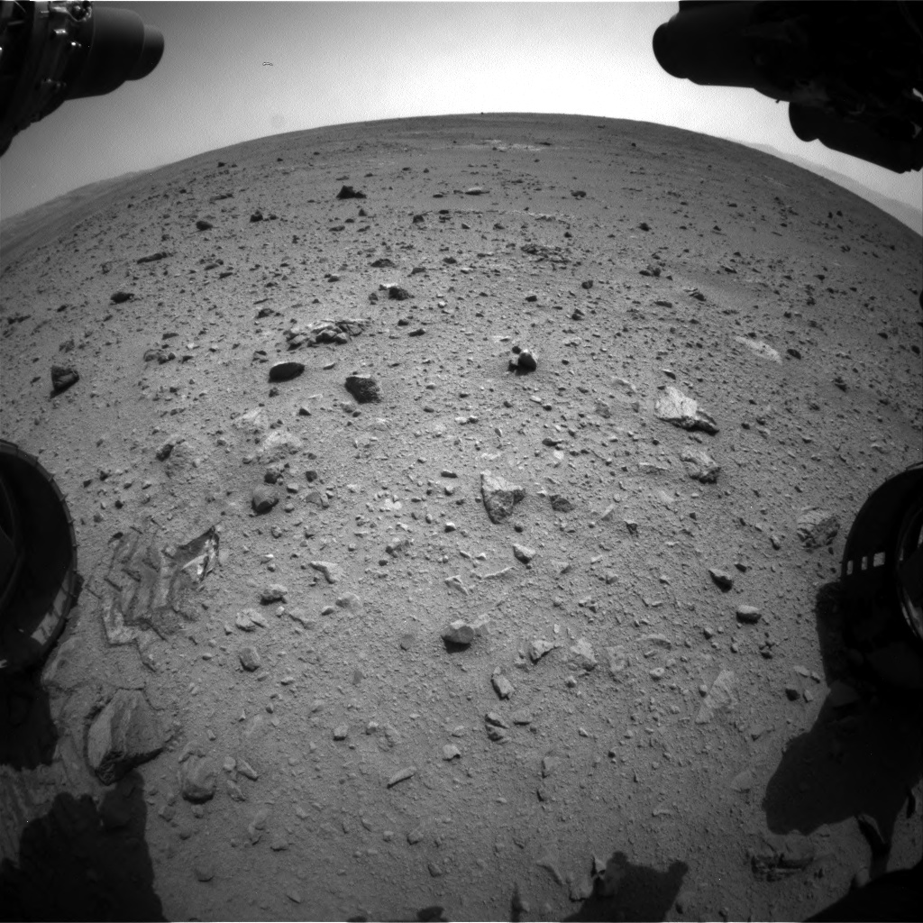 Nasa's Mars rover Curiosity acquired this image using its Front Hazard Avoidance Camera (Front Hazcam) on Sol 340, at drive 0, site number 9