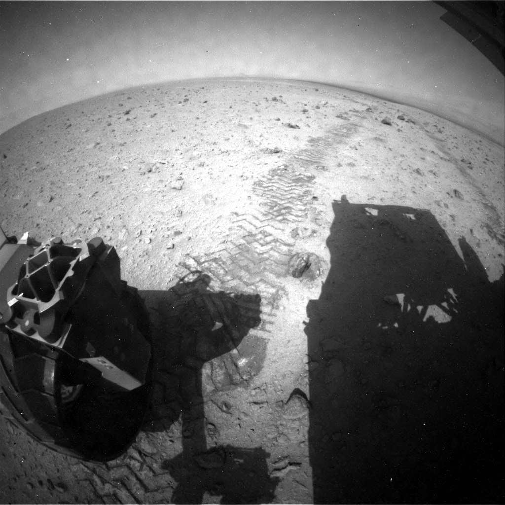 NASA's Mars rover Curiosity acquired this image using its Rear Hazard Avoidance Cameras (Rear Hazcams) on Sol 340