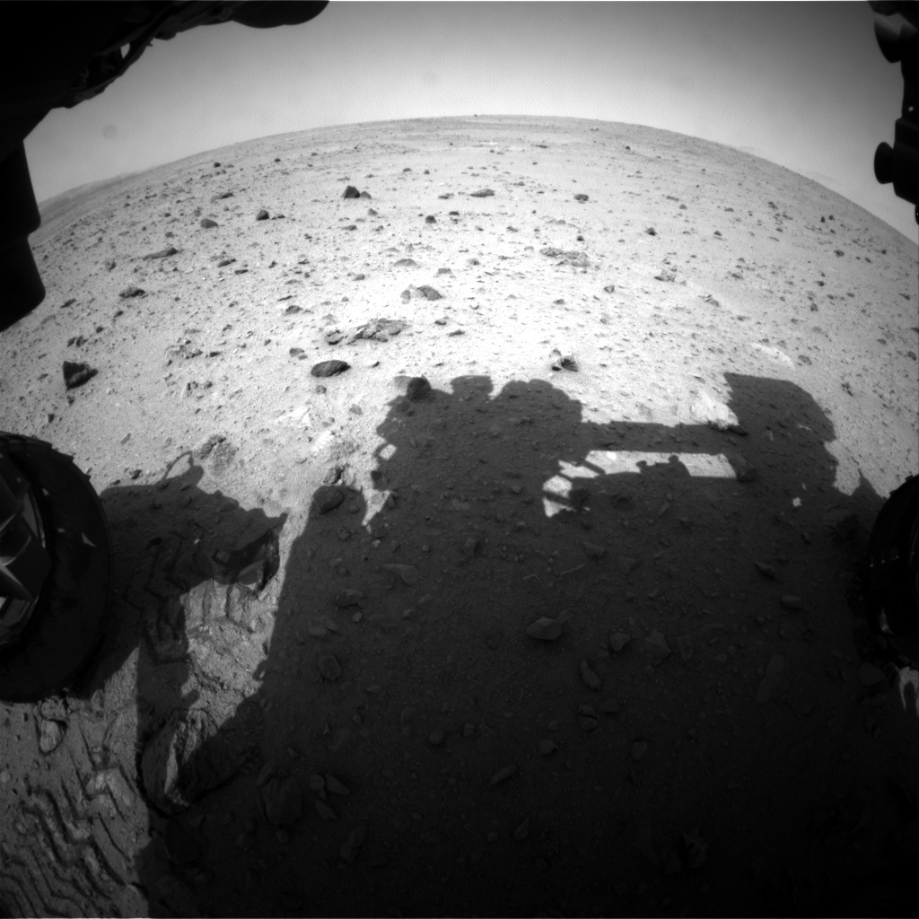 NASA's Mars rover Curiosity acquired this image using its Front Hazard Avoidance Cameras (Front Hazcams) on Sol 341