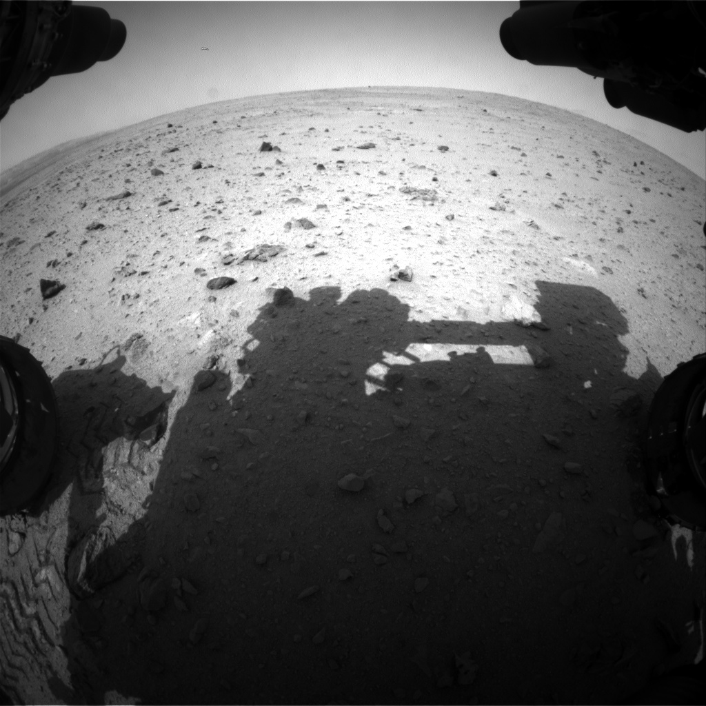 Nasa's Mars rover Curiosity acquired this image using its Front Hazard Avoidance Camera (Front Hazcam) on Sol 341, at drive 0, site number 9