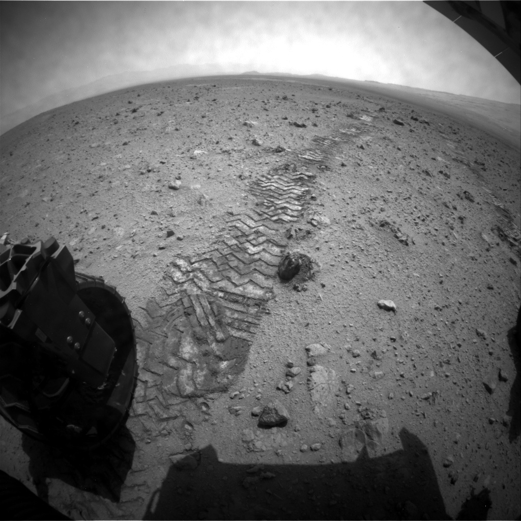 NASA's Mars rover Curiosity acquired this image using its Rear Hazard Avoidance Cameras (Rear Hazcams) on Sol 341