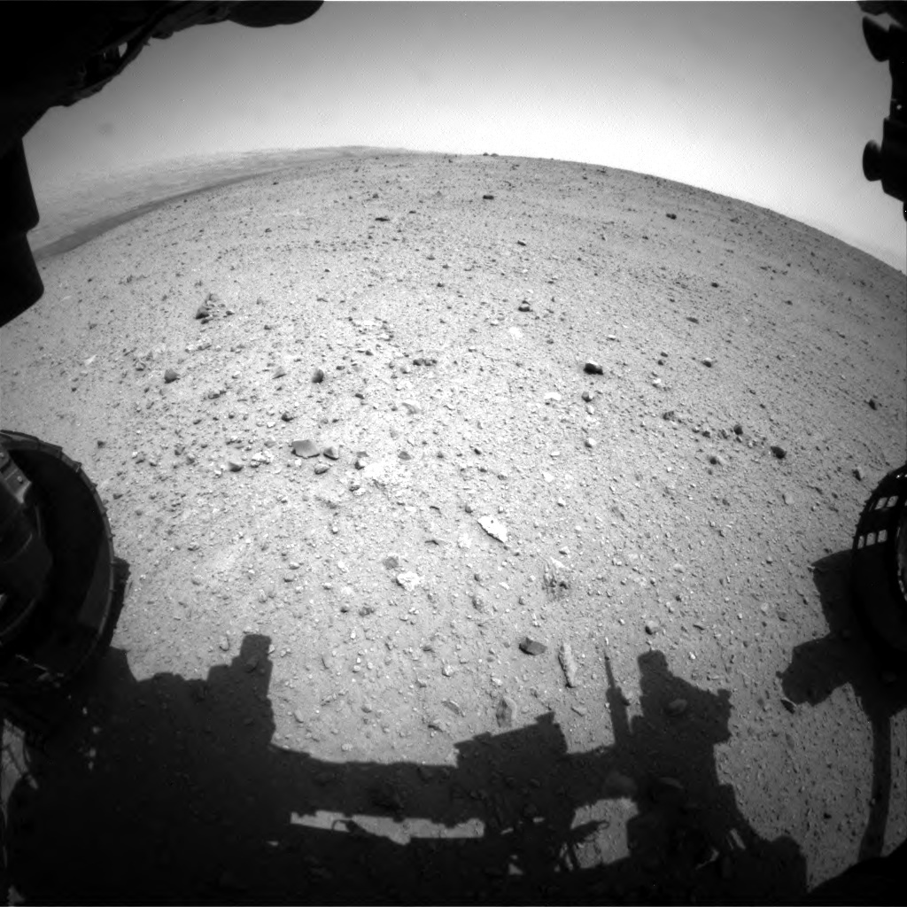 Nasa's Mars rover Curiosity acquired this image using its Front Hazard Avoidance Camera (Front Hazcam) on Sol 342, at drive 222, site number 9