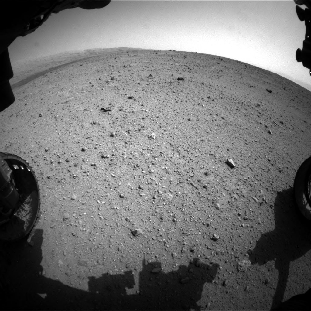 Nasa's Mars rover Curiosity acquired this image using its Front Hazard Avoidance Camera (Front Hazcam) on Sol 342, at drive 236, site number 9
