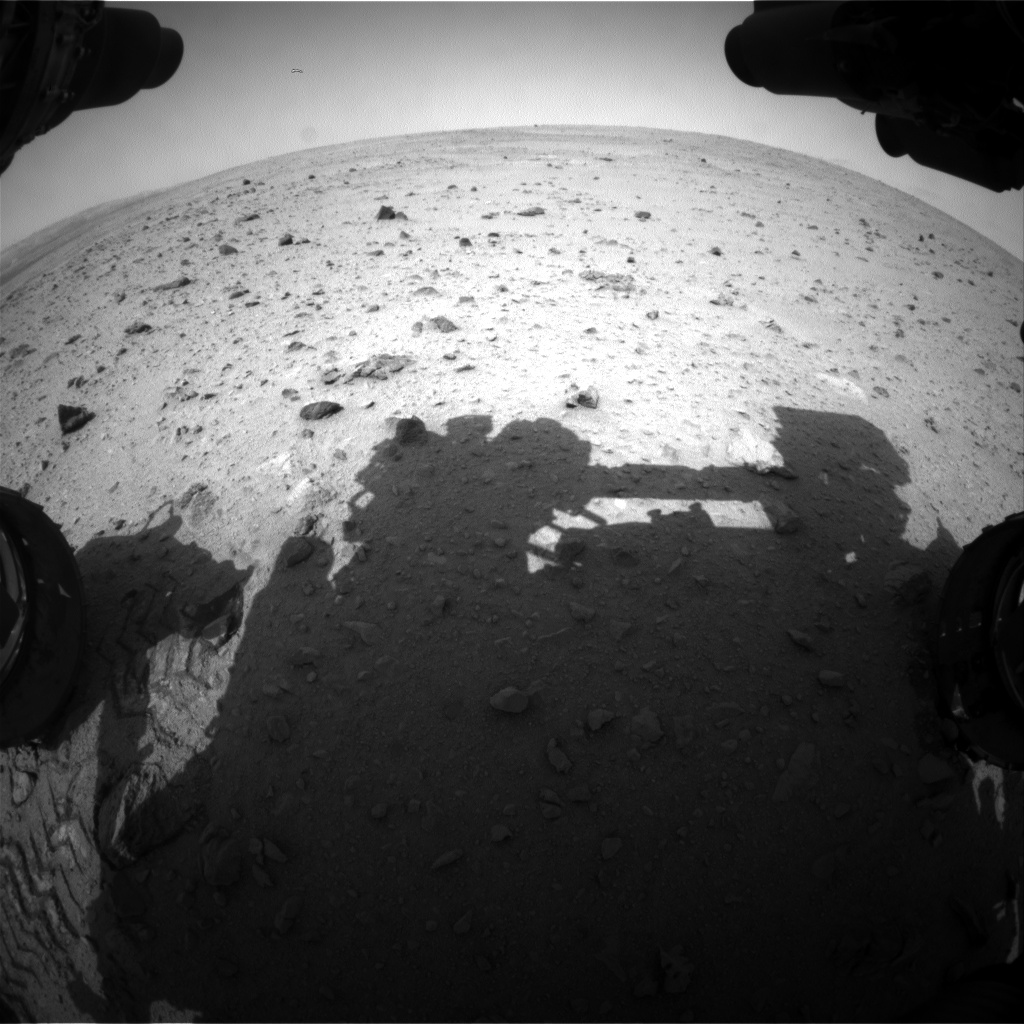 Nasa's Mars rover Curiosity acquired this image using its Front Hazard Avoidance Camera (Front Hazcam) on Sol 342, at drive 0, site number 9