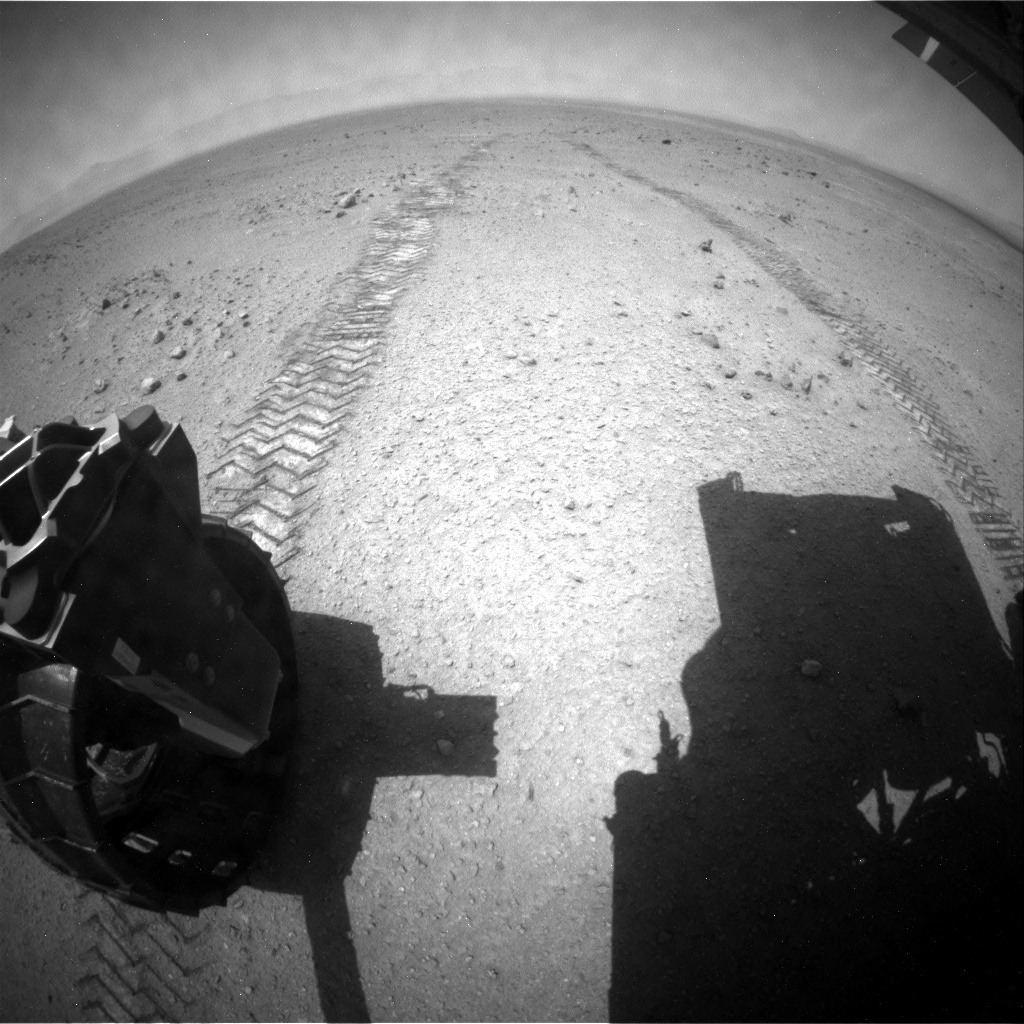 NASA's Mars rover Curiosity acquired this image using its Rear Hazard Avoidance Cameras (Rear Hazcams) on Sol 342