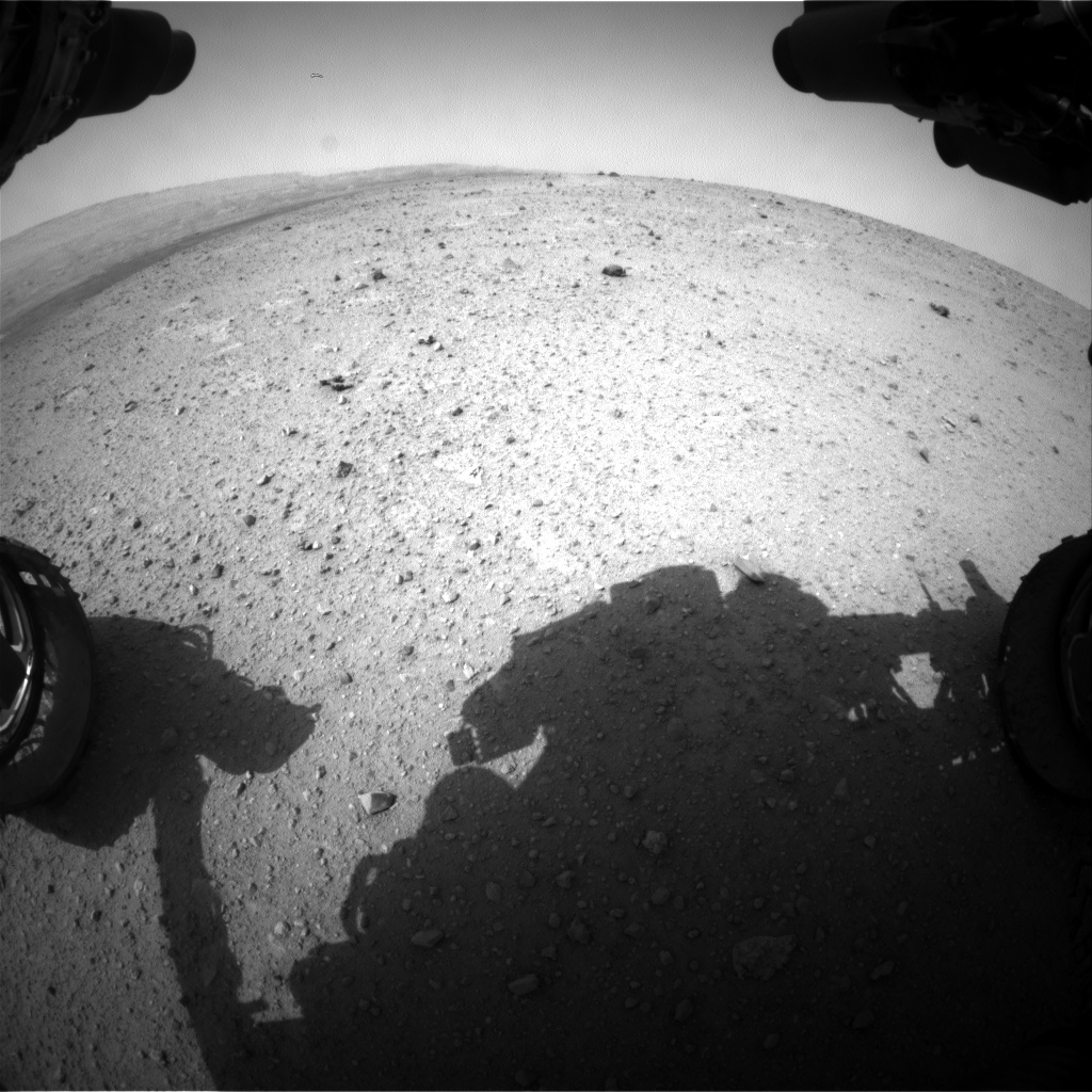 Nasa's Mars rover Curiosity acquired this image using its Front Hazard Avoidance Camera (Front Hazcam) on Sol 343, at drive 236, site number 9