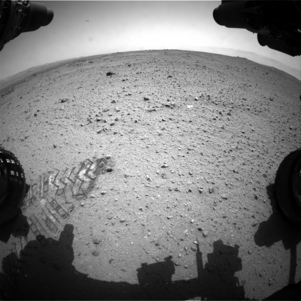 Nasa's Mars rover Curiosity acquired this image using its Front Hazard Avoidance Camera (Front Hazcam) on Sol 343, at drive 366, site number 9