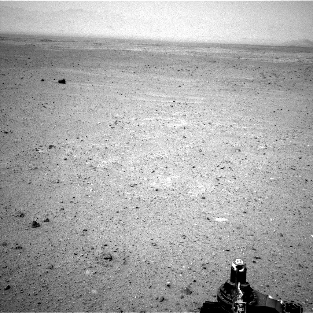Nasa's Mars rover Curiosity acquired this image using its Left Navigation Camera on Sol 343, at drive 366, site number 9