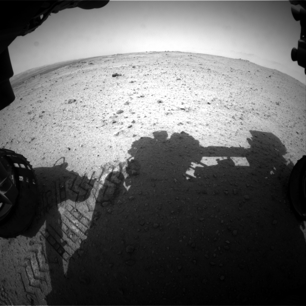 Nasa's Mars rover Curiosity acquired this image using its Front Hazard Avoidance Camera (Front Hazcam) on Sol 344, at drive 366, site number 9