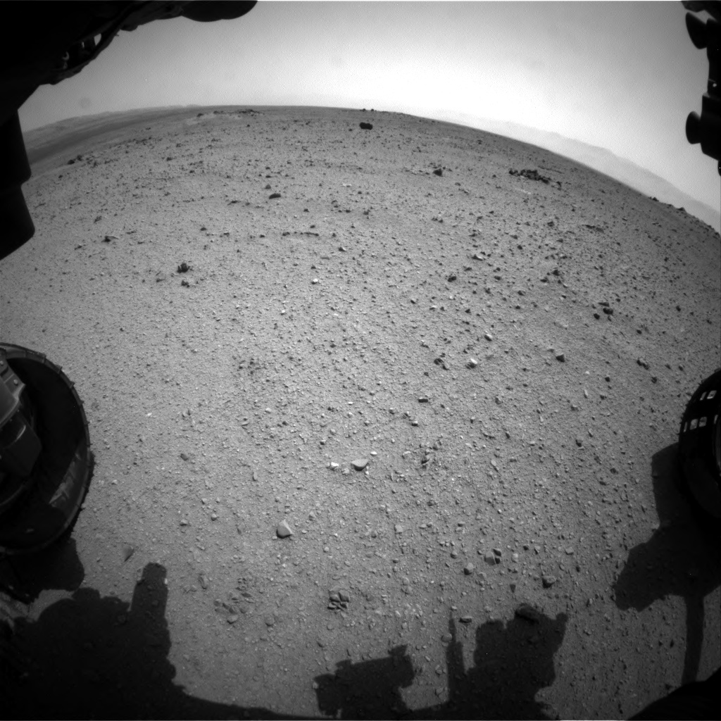 Nasa's Mars rover Curiosity acquired this image using its Front Hazard Avoidance Camera (Front Hazcam) on Sol 344, at drive 0, site number 10