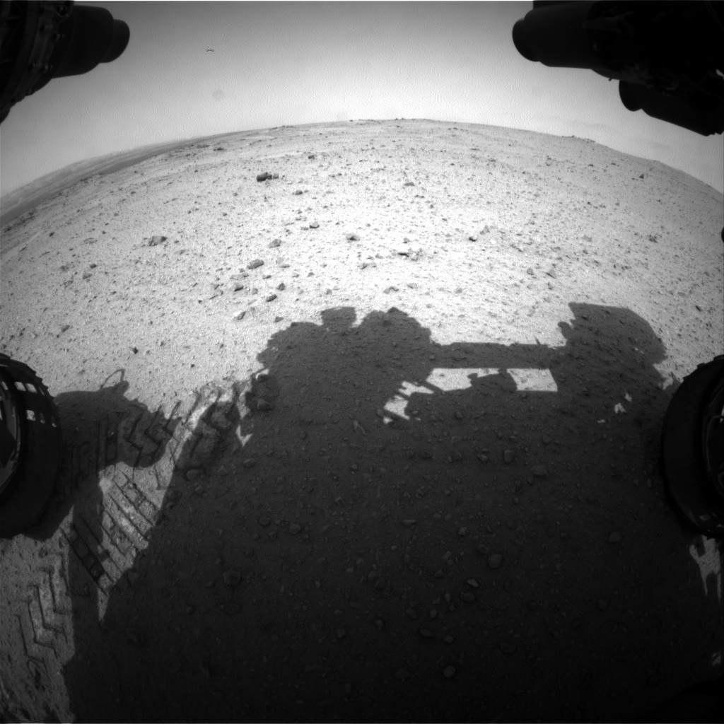 NASA's Mars rover Curiosity acquired this image using its Front Hazard Avoidance Cameras (Front Hazcams) on Sol 344