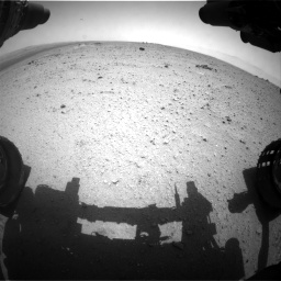 Nasa's Mars rover Curiosity acquired this image using its Front Hazard Avoidance Camera (Front Hazcam) on Sol 344, at drive 762, site number 9