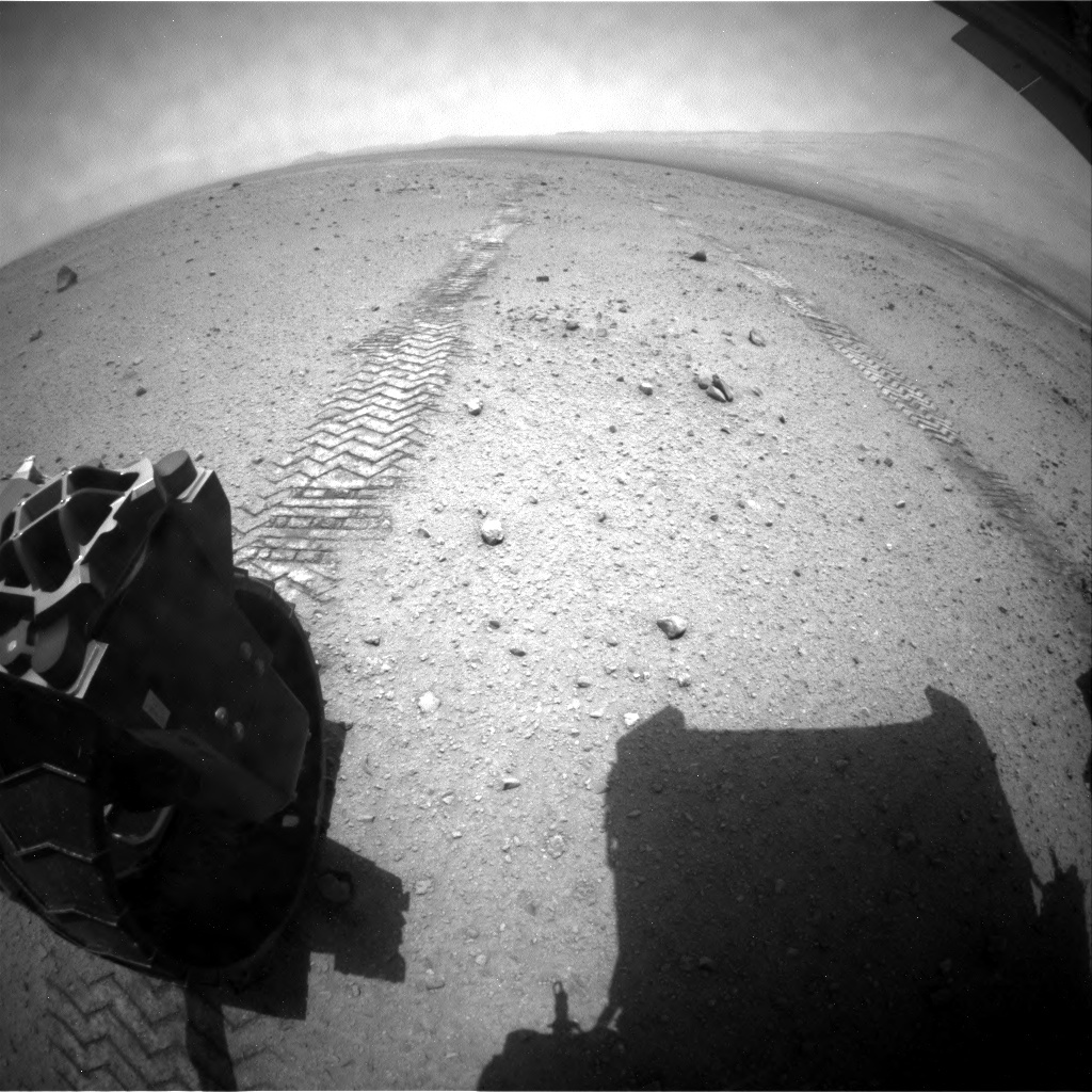 NASA's Mars rover Curiosity acquired this image using its Rear Hazard Avoidance Cameras (Rear Hazcams) on Sol 344