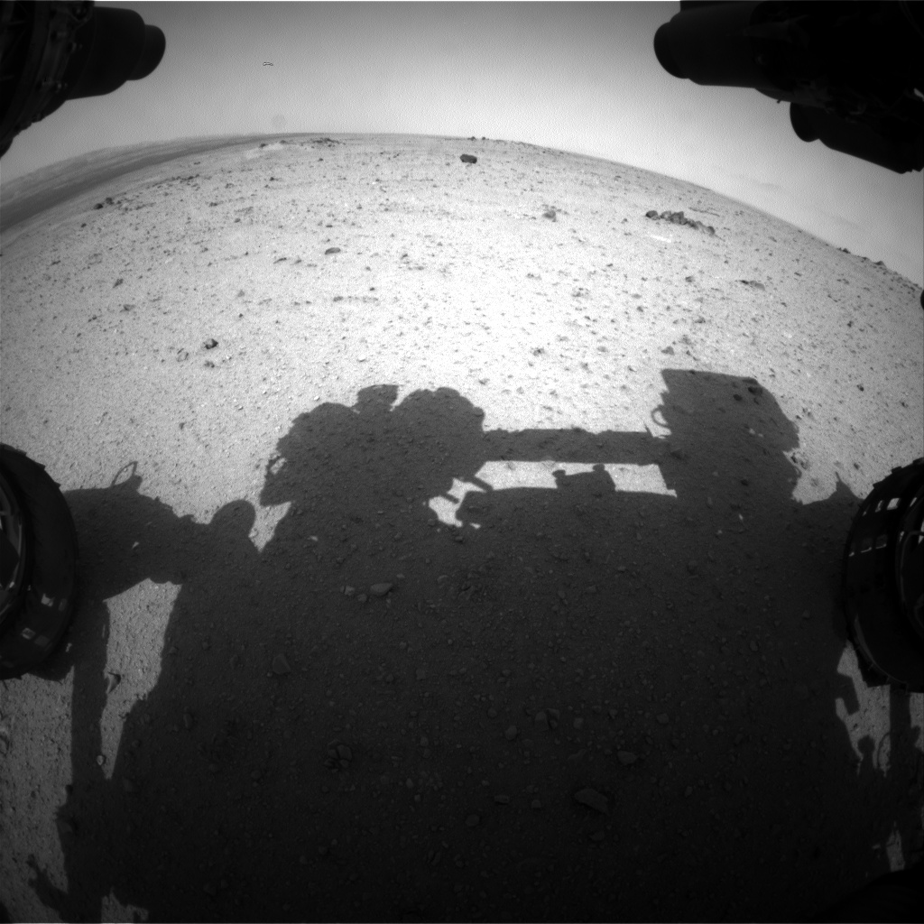 Nasa's Mars rover Curiosity acquired this image using its Front Hazard Avoidance Camera (Front Hazcam) on Sol 345, at drive 0, site number 10