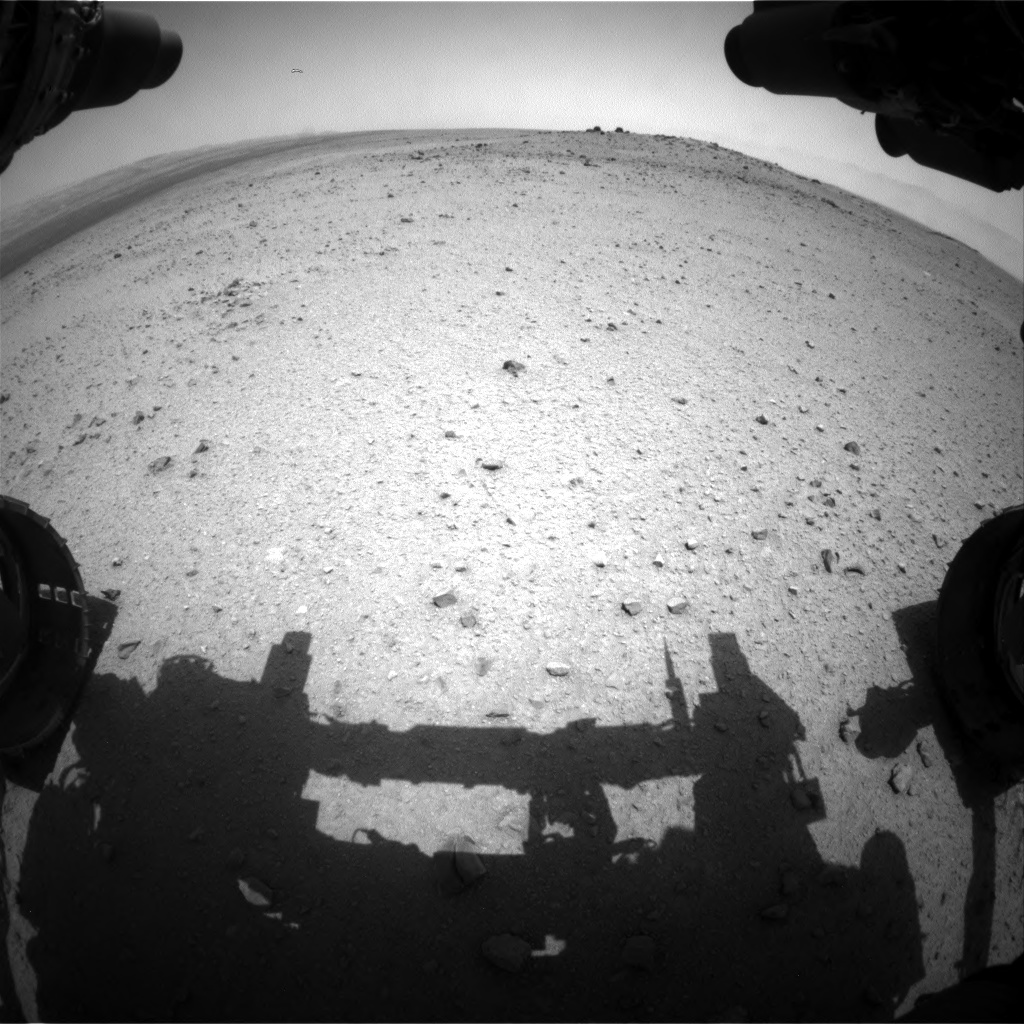 Nasa's Mars rover Curiosity acquired this image using its Front Hazard Avoidance Camera (Front Hazcam) on Sol 345, at drive 288, site number 10