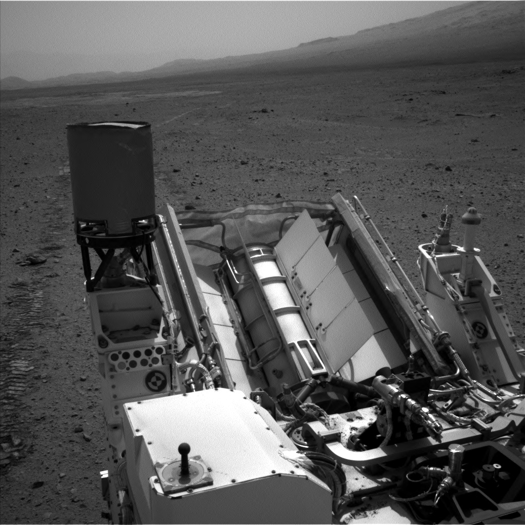 Nasa's Mars rover Curiosity acquired this image using its Left Navigation Camera on Sol 345, at drive 0, site number 10